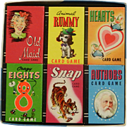 Vintage Whitman Treasure Kit of Miniature Card Games