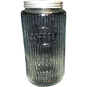 Vintage Hoosier Coffee Jar Canister with Lid
