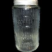 Vintage Hoosier Coffee Jar Canister with Lid