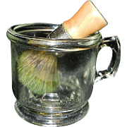 Vintage Shaving Mug and Brush