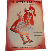 Vintage Sheet Music for The Little Rag Doll