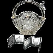 Vintage Byrde Crystal Basket