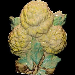 Vintage 1940's Nelson McCoy Pottery Flower Vase
