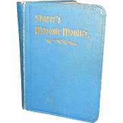 Vintage Shaver's Thirteenth Edition Masonic Monitor Book
