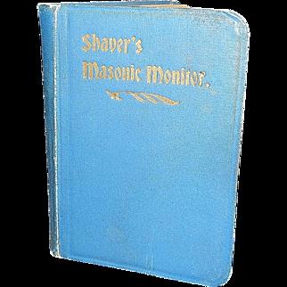 Vintage Shaver's Thirteenth Edition Masonic Monitor Book