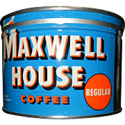 Vintage Maxwell House Coffee Can