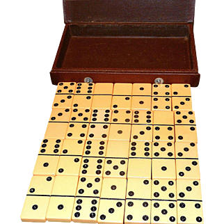 Vintage E.S. Lowe Bookcase Domino Set