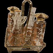 Vintage Culver Chantilly  Cruet Set