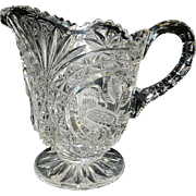 Vintage Hofbauer Crystal Footed Pitcher