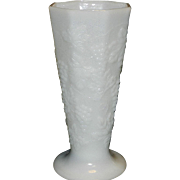 Vintage Anchor Hocking Paneled Milk Glass Vase