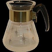 Vintage Mid-Century Atomic Starburst Corning Ware Coffee Carafe