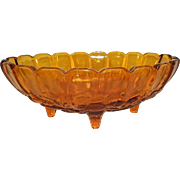 Vintage Indiana Glass Footed Fruit Bowl