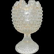 Vintage Duncan Miller Footed Hobnail Violet Vase