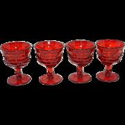 Vintage Fostoria Argus Ruby Red Stemware