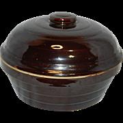 Vintage Monmouth Brown Glaze Stoneware Bowl