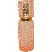 Vintage Pink Glass Diamond Point Perfume Spray Bottle