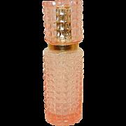 Vintage Pink Glass Diamond Point Perfume Spray Bottle