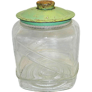 Antique Curtis Candy of Chicago Store Counter Chico's Peanut Jar