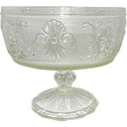Vintage Indiana Glass Company Sandwich glass Footed Compote