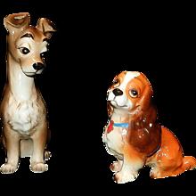 Vintage Ceramic Walt Disney Lady and the Tramp Dog Figurines - Red Tag Sale Item