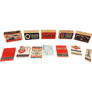 Vintage Miscellaneous Match Book Covers and Matchboxes