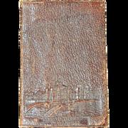 Antique 1893 Colombian World Exposition Leather Souvenir Wallet