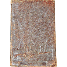 Antique 1893 Colombian World Exposition Leather Souvenir Wallet
