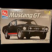 Vintage 1967 Mustang GT Fastback AMX Model Kit