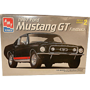 Vintage 1967 Mustang GT Fastback AMX Model Kit