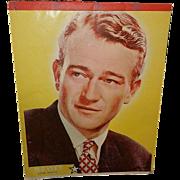Vintage 1930's John Wayne Writing Tablet