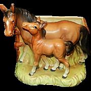 Vintage Made in Japan Ceramic Horse Planter