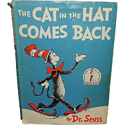 Vintage Dr. Seuss Children's Hardcover Book The Cat in the Hat Comes Back