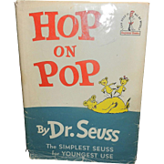 Vintage Dr. Seuss Hardcover Children's Book Hop on Pop