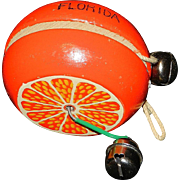 Vintage Florida Souvenir Wooden Yo-Yo Florida Orange