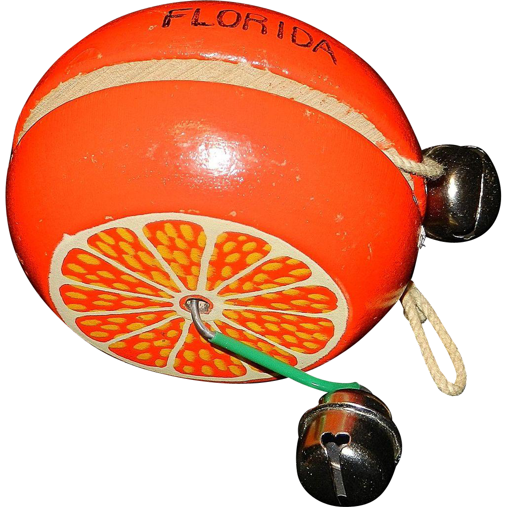 Vintage Florida Souvenir Wooden Yo-Yo Florida Orange