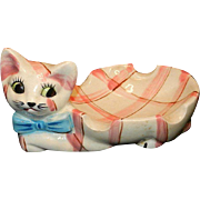 Vintage Ceramic Made in Japan Kitten Soap Dish