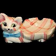 Vintage Ceramic Made in Japan Kitten Soap Dish