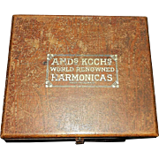 Antique Ands Kochs Harmonica Store Display Box