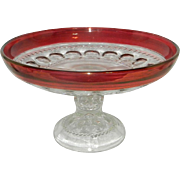 Vintage Kings Crown Ruby Red Footed Bowl