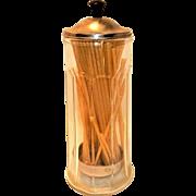 Vintage Bloomfield Industries Soda Fountain Straw Dispenser