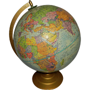 Vintage World Globe by Globe Master