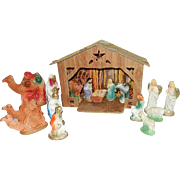 Vintage Nativity Display