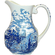 Vintage Staffordshire Ironstone Liberty Blue Pitcher