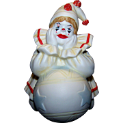 Vintage Pom Pom Clown Porcelain Figurine By  Faith Wick