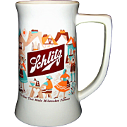 Vintage Schlitz Beer Company Ceramic Stein By McCoy Potteries