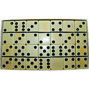 Vintage Puremco Marblelike Double Six Dominoes