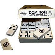 Vintage Puremco Marblelike Double Six American Telephone & Telegraph Company Domino Set