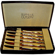 Vintage Sigma Gold Coin Supreme Decorative Cutlery Set