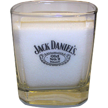 Vintage Jack Daniels Old No. 7 Whiskey Square Lowball Tumblers