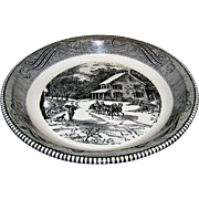 Vintage Currier & Ives Royal China Jeannette Pie Plate